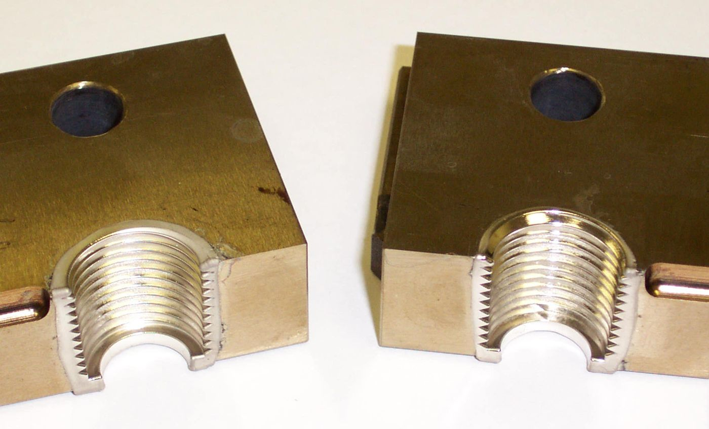 Threaded inserts plated with NiColoy® for Repairs